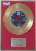 "Elvis Presley - 7"" Tri-centre 24 Carat Gold Disc - One Night"